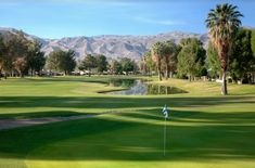 At Cathedral Canyon Golf Course, enjoy 18 holes of beautiful championship golf in the cool shade of tree-lined fairways, with 16 lakes, well-maintained, undulating greens, and strategically placed bunkers that challenge golfers of all skill levels. Learn more.