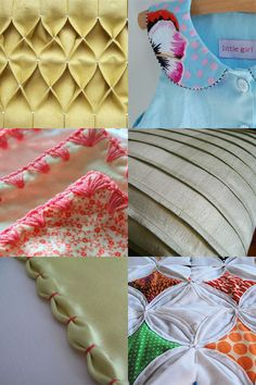 All in the Details. Show how to do honeycomb pleats, pintuck pleats as well as a couple of other things you can do to finish the look of a project.  Note: this page links to the tutorials