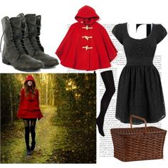 little red riding hooded coat rotk ppchen und rot. Black Bedroom Furniture Sets. Home Design Ideas
