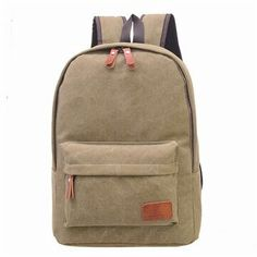 HOT Simple Canvas Shoulder Bags School Student Bags Backpacks For Teenagers  Laptop Backpack Travel Bag mochila feminina 0b274b6c10c67