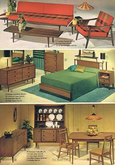 1966 - MCM for the whole house from Wards! Love that they used Moe lights as props.