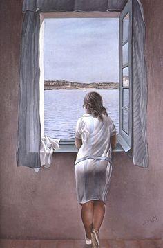 Salvador Dali Pencerede Duran Kız / Figure at a Window 1925. Tuval üzerine yağlıboya. 102 x 75 cm. Museo Nacional Centro de Arte Reina Sofia, Madrid.