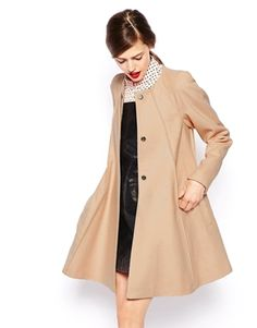 Fall/Winter must have. ASOS Coat In Trapeze With Seam Detail.