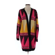 Pre-owned Ecote Cardigan Size 4: Red Women's Sweaters & Sweatshirts ($23) ❤ liked on Polyvore featuring tops, cardigans, red, red cardigan, ecote, ecote cardigan, purple top and purple cardigan
