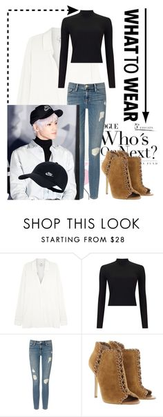 """""""Taeyong Inspired Outfit"""" by xxxdragon ❤ liked on Polyvore featuring Vince, Miss Selfridge, Frame Denim, Michael Kors, NIKE, kpop, taeyong, nctu, nct and NCT127"""
