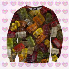 Kinderkleding - Gummy Bears sweater for kids - Een uniek product van mrgugu op DaWanda
