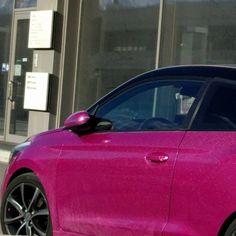 Glitter Pink Car #torinoshoppinglam #style #instapink #igersaosta #glamour #fashionista #pink #picoftheday