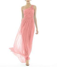 DescriptionAlfred Sung Style D691Fulllength bridesmaid dressOne shoulder necklineAsymmetrically draped bodiceSlighty shirred skirtChiffon knit