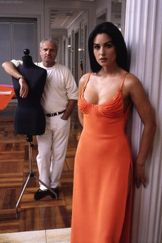 <0> Monica Bellucci and Gianni Versace