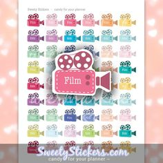 Sweety Stickers . candy for your planner   Are you a YouTuber, and want to get better organized with uploading your YouTube videos? Then have a