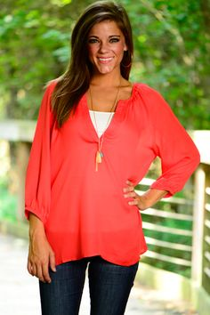 Pretty Simple Blouse, Red