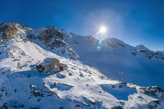 Hut for sale. See more on our website. Us Real Estate, Alps, Switzerland, Mount Everest, Highlights, Mountains, Website, Architecture, Winter