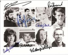 Memorabilia Mine American Graffiti cast signed by Seven - Original 8 x 10 Color seven autogaphs with C O A Teen Movies, Old Movies, Vintage Movies, Great Movies, Vintage Posters, Classic Hot Rod, Classic Movies, American Graffiti, I Movie