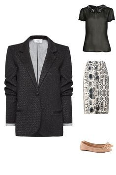 Power dressing - Look suggest for a pear body type woman. Give it a spin and find out yours
