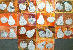 Autumn Crafts, Autumn Art, Diy And Crafts, Crafts For Kids, Arts And Crafts, Fall Art Projects, Tape Painting, Art Lessons Elementary, Autumn Activities
