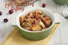 Apple Cranberry Stuffing - Eat. Drink. Love.