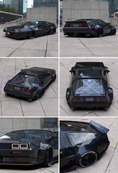 A black Delorean – Cars – Super Autos Luxury Sports Cars, Tuner Cars, Jdm Cars, Slammed Cars, Custom Muscle Cars, Custom Cars, Weird Cars, Cool Cars, Dmc Delorean
