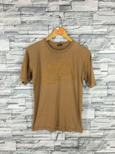 42b0d476e40a Vintage 90's STUSSY T shirt Small Stussy Spell Out Big Logo Skateboard New  York Stussy Skater Brown Streetwear T shirt Size S