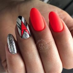Nails pink hot art designs Ideas for 2019. Ongle Gel RougeOngles