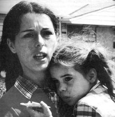 Lois Gibbs and daughter during the early days of organising the Love Canal protests.