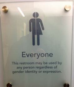 These should start being in public for people who are questioning about their gender identity, are gender fluid, bigender, or agender, and the list goes on. These are necessary bathroom. There's more than two genders. Marie Curie, We Are The World, In This World, Genderqueer, Les Sentiments, Bathroom Signs, Unisex Bathroom Sign, Equal Rights, Lgbt Rights