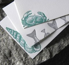Sea Island Inspired Letterpress Stationary - as seen in Coastal Living @Ashley Lavallee