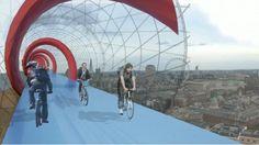 Elevated Bike Lane System Proposed for London : TreeHugger