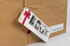 Alfabetfoto frame package, postcard, seal