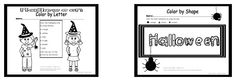 Halloween Coloring Pages, fall coloring pages, free coloring pages, ready set read...These are FREE in my Teacher's pay Teacher's store!   In the packet, there are a variety of coloring sheets. Each sheet is provided as a blank coloring sheet, as a color by letter, a color by number, and a color by shape.