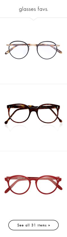 """glasses favs."" by andressabrandao1 ❤ liked on Polyvore featuring accessories, eyewear, eyeglasses, glasses, brown, tortoise shell glasses, tortoise eye glasses, vintage round eyeglasses, vintage eyeglasses and round tortoise glasses"