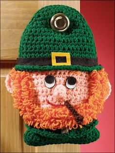 Leprechaun Door Hanger - crochet free pattern