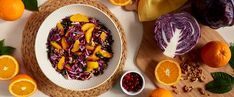 This rainbow-hued salad is a treat for the eyes and the taste buds, with every forkful bursting with flavor and color. Try this holiday-worthy recipe today! Red Cabbage Salad, Orange Salad, Thanksgiving Meal Planner, Thanksgiving Recipes, Plant Based Diet, Plant Based Recipes, The Best Green Beans, Whole Food Recipes, Healthy Recipes