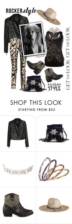 """Rocker Chic"" by ragnh-mjos ❤ liked on Polyvore featuring Paige Denim, Yves Saint Laurent, BCBGMAXAZRIA, Not Rated and Zimmermann"