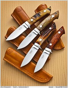 Awesome knives with sweet cases classic blades so most likely stainless steel