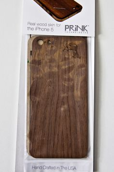 """Purchase in our """"Swag"""" store at blindfoldmag.com #woodiphonecase #prink #iphone5"""
