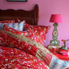 Buy PiP Studio Chinese Rose Duvet Cover and Pillowcase Set, Red online at JohnLewis.com - John Lewis