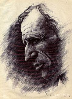 Miguel Torga II (study I) Ink portrait!