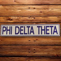 Show your sorority pride with this Phi Delta Theta address wall sign by CDI…