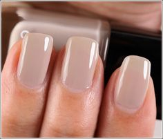 """PERFECT NAILS Chanel Frenzy Le Vernis / Nail Lacquer ($26.00 for 0.40 fl. oz.) is described as a """"lilac grey."""" It's a light taupe"""