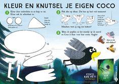 Knutselpagina – Loes Riphagen Mood Tracker, Kids Education, Coco, Homeschool, Crafts For Kids, Teaching, Children, Geluk, Google