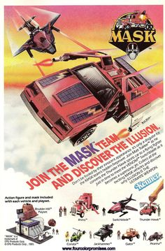 M.A.S.K. Comic Ad. A great vintage ad from the 80's!  I remember seeing this and losing my mind! I HAD to have ALL of 'em!