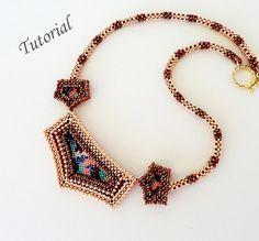 PDF for beadwoven necklace beading pattern by PeyoteBeadArt