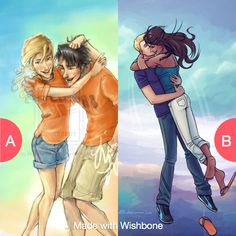 Percy jackson and annabeth or piper and jason Click here to vote @ http://wishbone.io/percy-jackson-and-annabeth-or-piper-and-jason-33409575.html