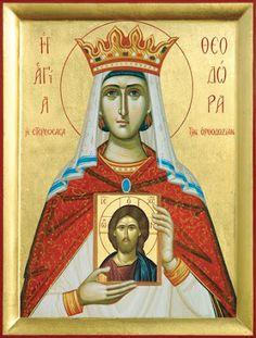 Икона прав. Феодоры, царицы Греческой, восстановившей почитание святых икон (ок. 867). 11 февраля/24 февраля