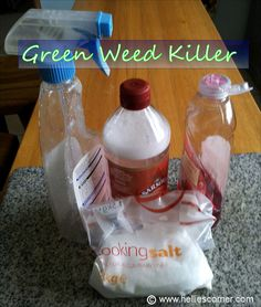 Green Weed Killer - salt and vinegar weed killer - Easy, Effective and Environmentally Friendly! | Hellie's Corner