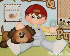 "Cute Boy ""Snips & Snails & Puppy Dog Tails"" Premade Pages"