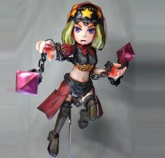 This perfect paper model version  of Velvet, the Forest Witch , from Odin Sphere videogame series , was created by Japanese designer Kujir...
