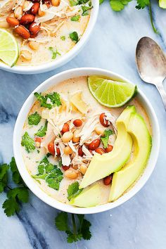 Slow-Cooker Cream Cheese Chicken Chili | These Mexican and Tex-Mex recipes are perfect for a party or simply dinner this summer.