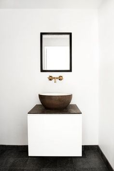 wood basin