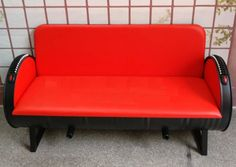 Find Cheap Designer Furniture Now Red Sofa, Vintage Industrial, House Design, Couch, Rustic, Furniture, Home Decor, Country Primitive, Settee